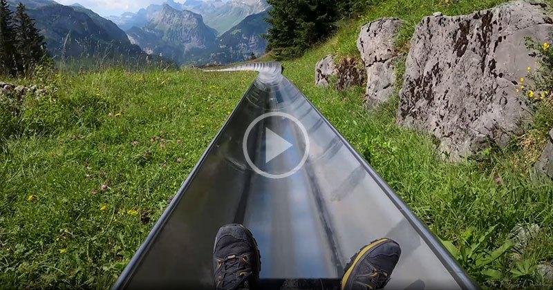 Mountain Coaster Ride in Switzerland