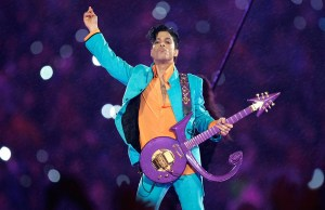 Prince Playing Purple Rain