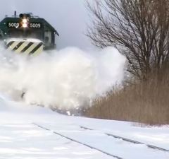Snow Plowing Trains