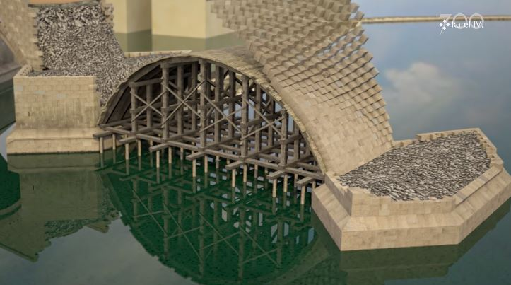 Incredible Animation Shows How Bridges Were Built in 14th-Century Prague