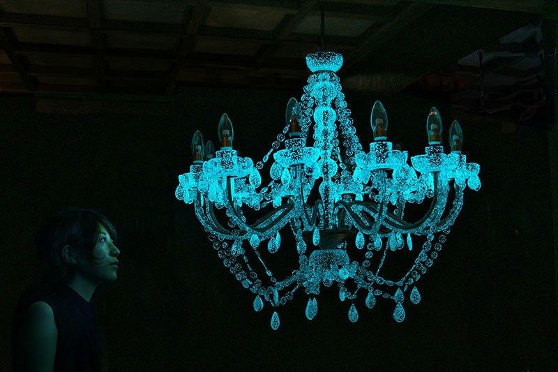 Phosphorescent Glass Sculptures