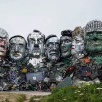 The Heads of 'Mount Recyclemore' Spotlight's The World's E-Waste Problem