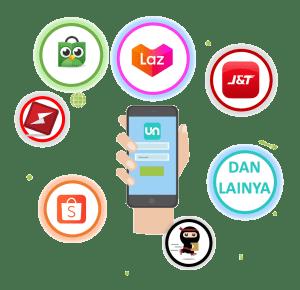 Sistem Lacak Pengiriman Unsircle Yang Dapat Ter integrasi dengan Marketplace dan Pengiriman Lazada, tokopedia, ninja, jne, J&T, Shopee, Sicepat,