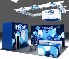 unsoloboton - diseño de stand para Implaser