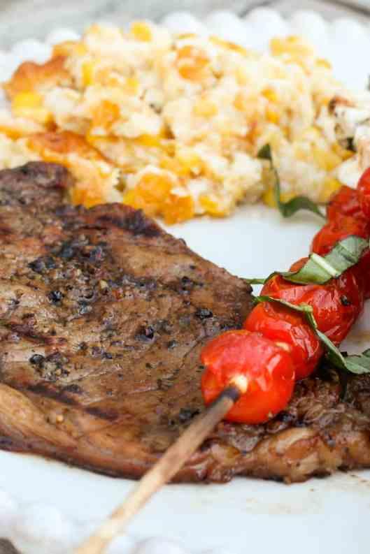 Coffee-Marinated Rib Eye Steak