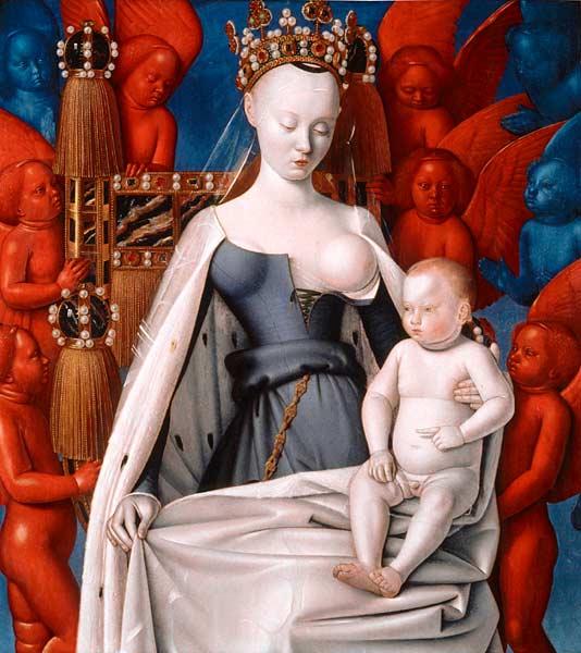 La Vierge et l'Enfant entourés d'anges, Jean Fouquet.jpg