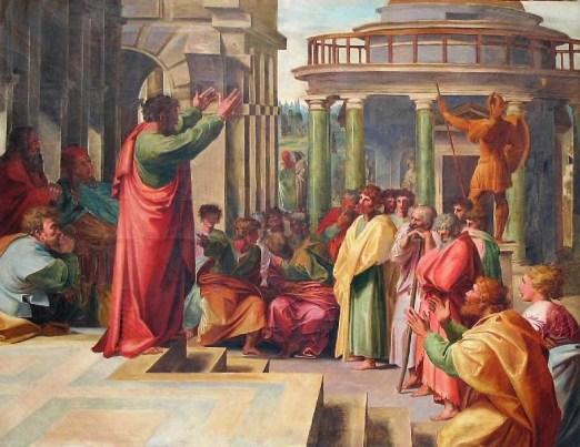 Raphael. Carton pour St. Paul prêchant à Athènes. c1513-1514. Victoria and Albert Museum, Londres .jpg