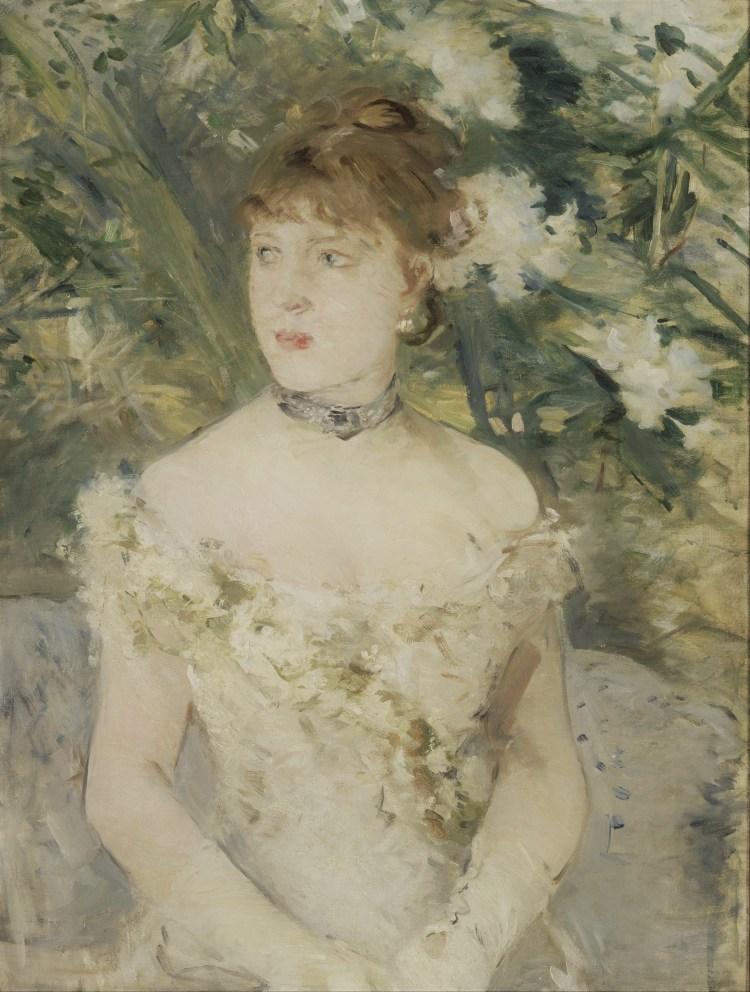 Morisot Article, Jeune fille en toilette de Bal 1879