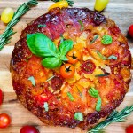 Savory and Sweet Upside Down Tomato Cake