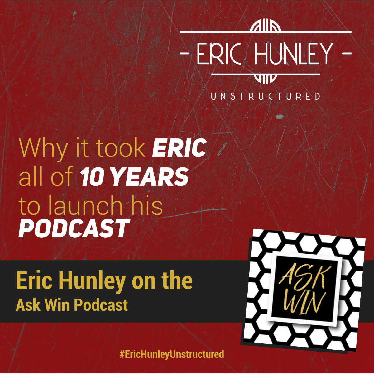 Eric Hunley Podcast Appearance Interviews - Ask Win Podcast Square Post