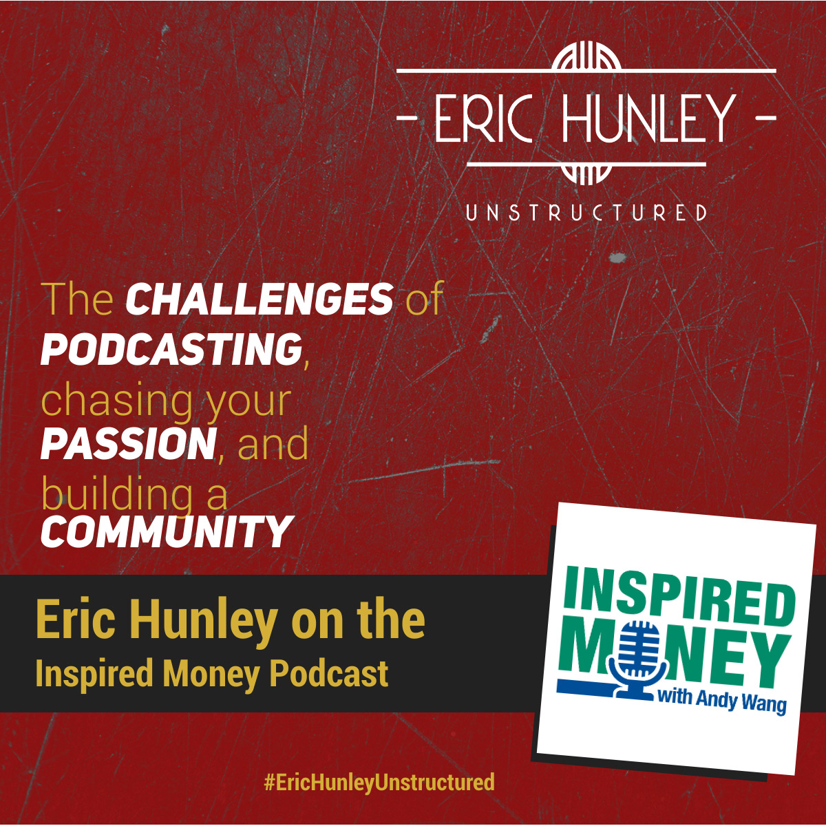 Eric Hunley Podcast Appearance Interviews - Inspired Money Podcast Podcast Square Post