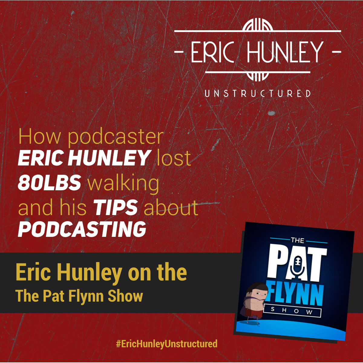 Eric Hunley Podcast Appearance Interviews - The Pat Flynn Show Podcast Square Post