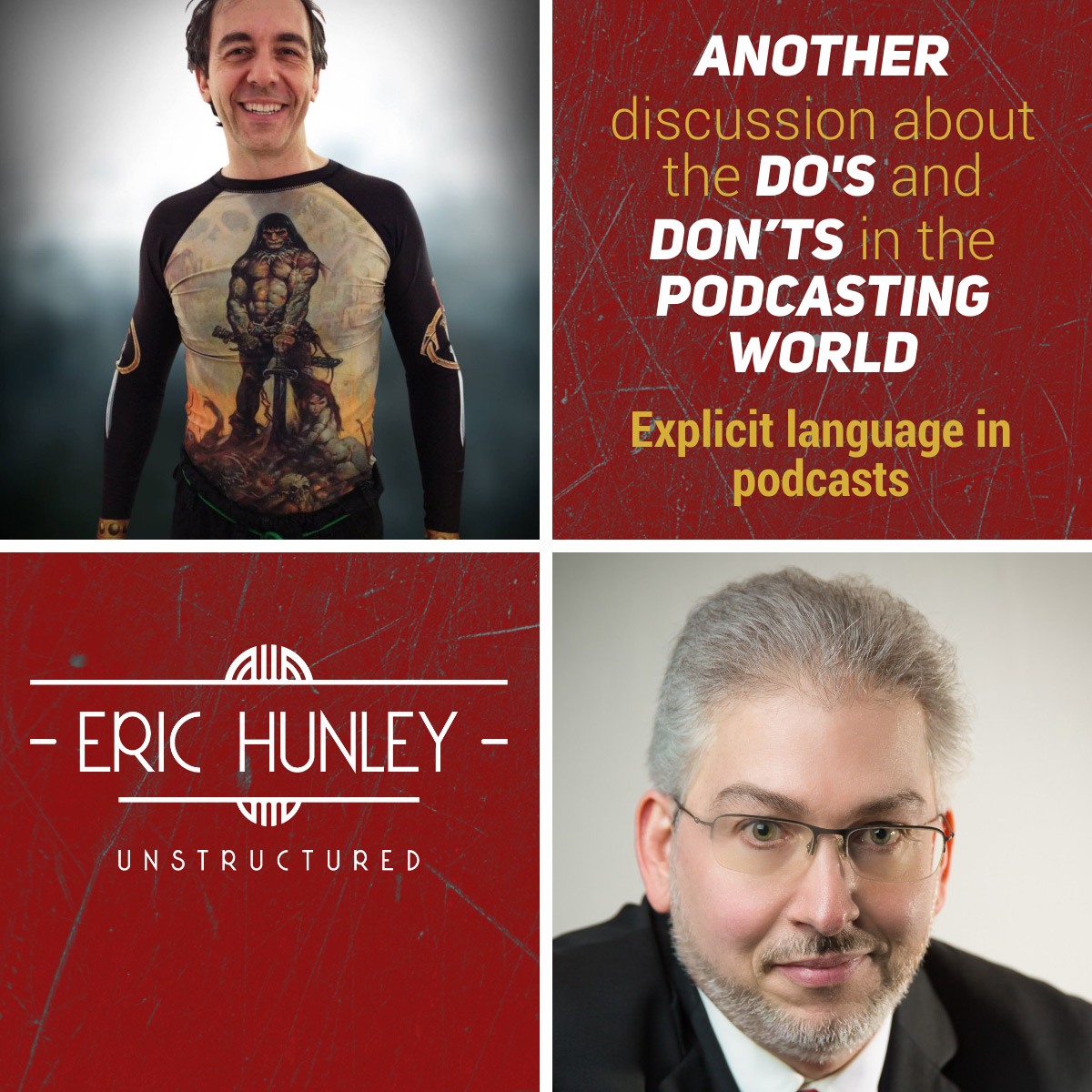 Eric Hunley Unstructured Podcast - 148 Daniele Bolelli and Dave Jackson Square Post