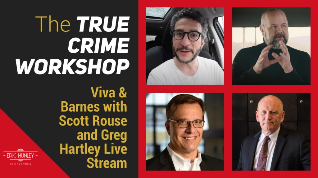 Eric Hunley Unstructured Live Stream Interviews - The True Crime Workshop YouTube Thumbnail