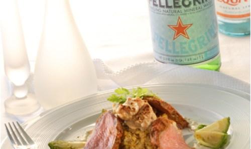 S. Pellegrino food shot
