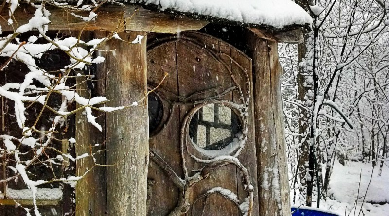 Easter Morning Outhouse
