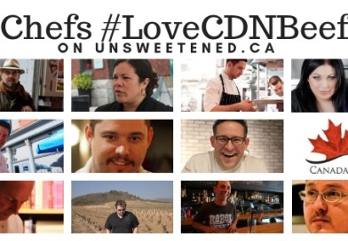 Chefs #LoveCDNBeef on unsweetened.ca - Top Canadian Chefs share their recipes using Canadian Beef