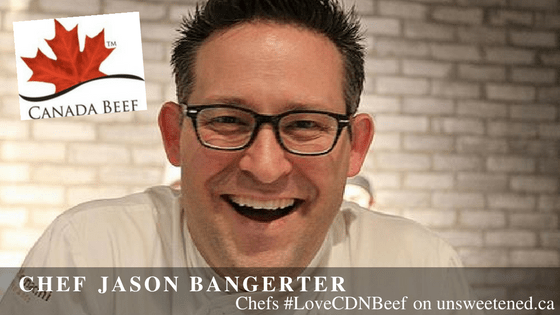 Chef Jason Bangerter in Chefs #LoveCDNBeef on unsweetened.ca
