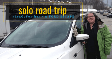 Alexa on her first solo road trip in a Ford Escape - #LexGoFurther