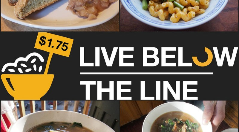 Live Below The Line - Day 4 Food