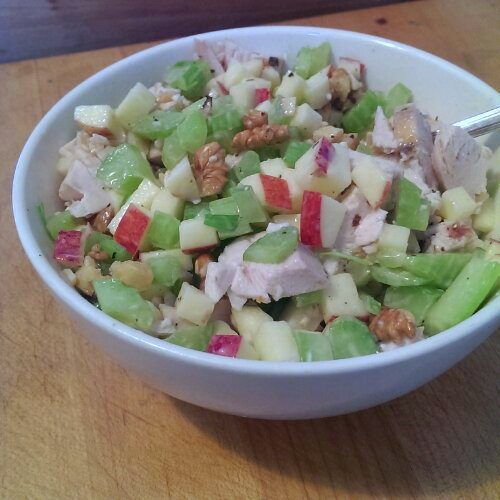 quick chicken waldorf salad recipe on unsweetened.ca