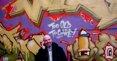 Too Old to Care graffiti in Kensington Market in Toronto