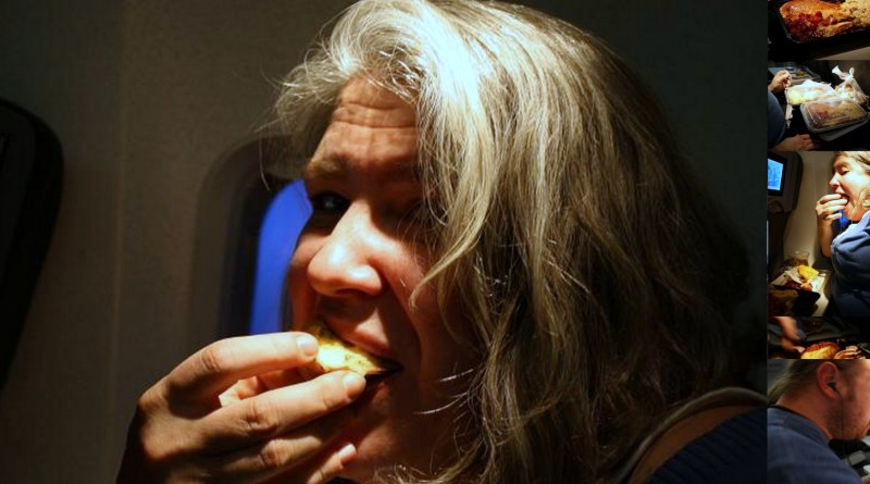 Thanksgiving on a plane