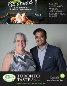 alexa clark neilesh daji - co-chairs Toronto Taste