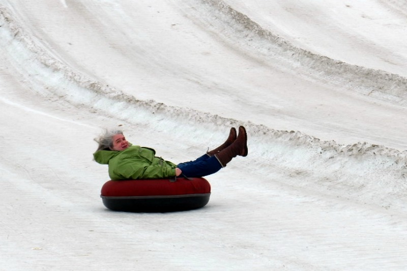 snow tubing horseshoe alexa - by Julie Height