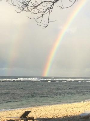 Rainbow taken from the resort