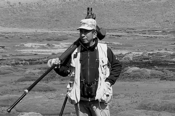 A picture of Silverio Duri, a highly experienced birder and bird guide of Peru
