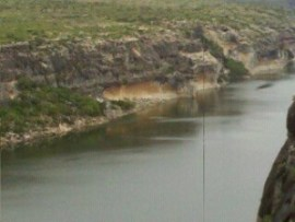 Pecos River as it enters the upper Lake Amistad.