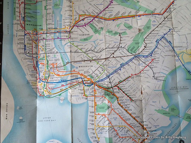Fun Maps  The Now Extinct  Train to the Plane  on 1970s NYC Subway     Fun Maps Train to Plane 6 Untapped Cities