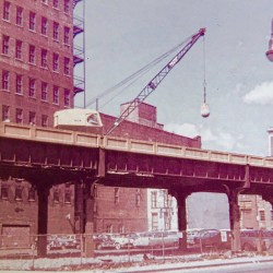 Vintage NYC Photos: Dismantling of The High Line in 1962
