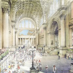 Renderings Restore NYC's Original Penn Station In Today's Context