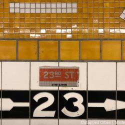 Spotted: Mini Subway Tiles Mimic Real NYC Subway Tiles