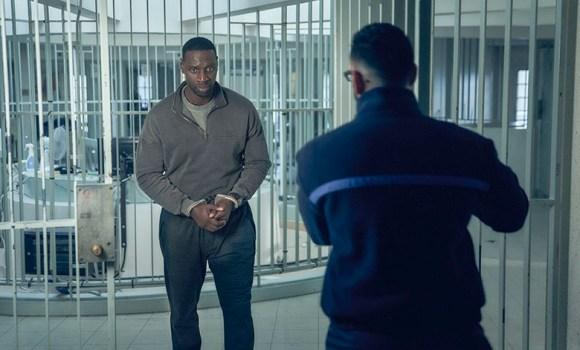 Omar Sy in the jail at Maison d'arrêt de Bois-d'Arcy