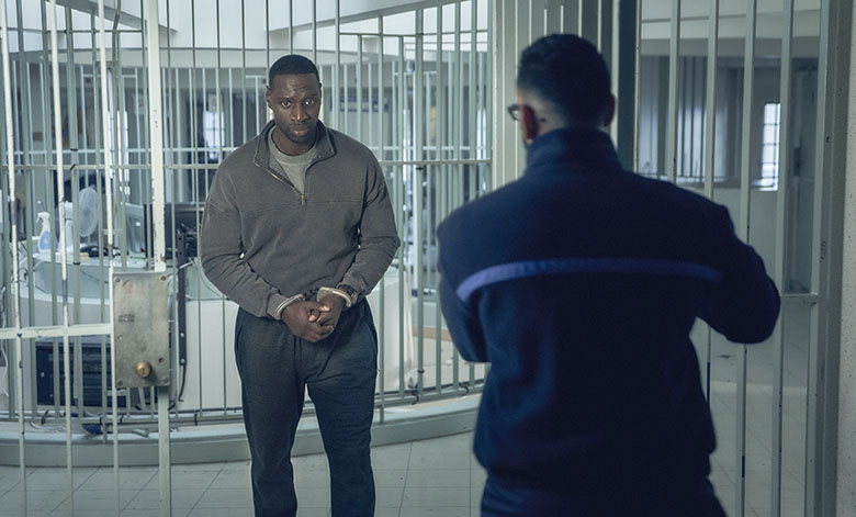 Omar Sy in the jail at Maison d'arrêt de Bois-d'Arcy