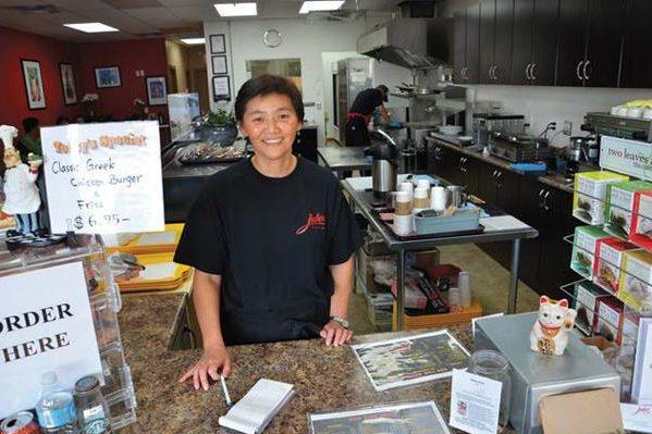 Jules at the counter