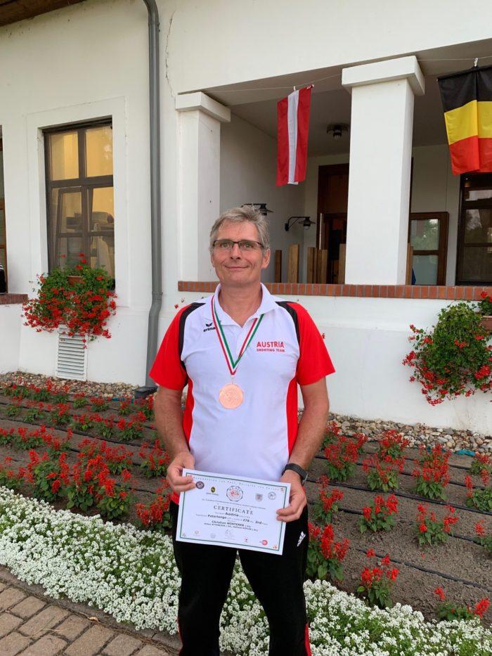 Bronzemedaillegewinner Ing. Christian Winterer 2019 Ungarn Sarlospuszta Sportschießen