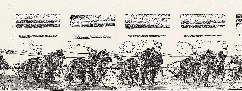 Triumphzug Kaiser Maximilians Holzschnitt Albrecht Dürer