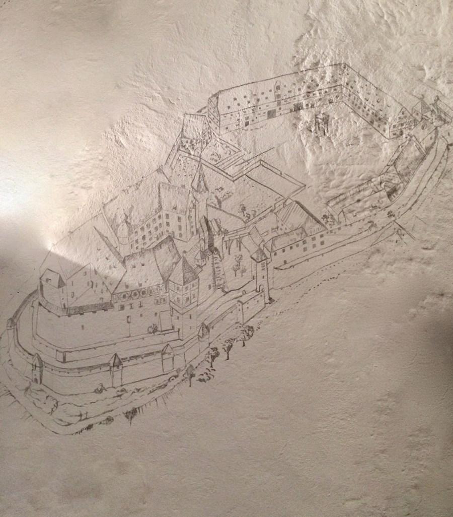 Cadolzburg Zeichnung unterwegsinsachenkunst