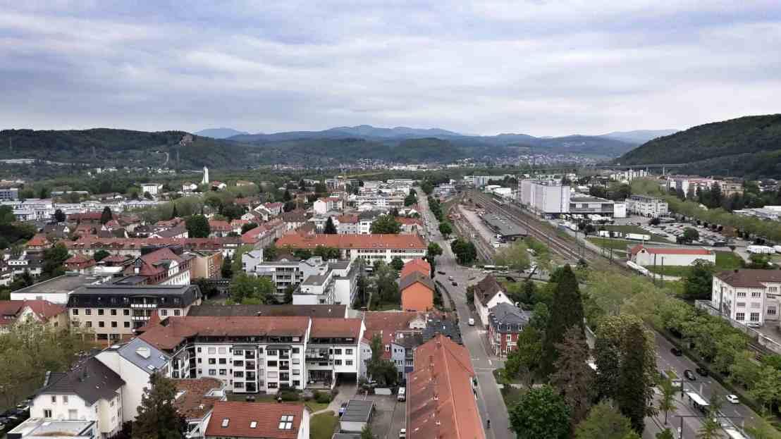 Aussicht vom loerracher Rathaus in richtung norden