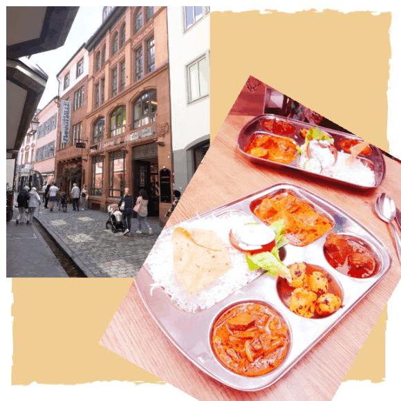 Mittagessen in der Markthalle in Freiburg