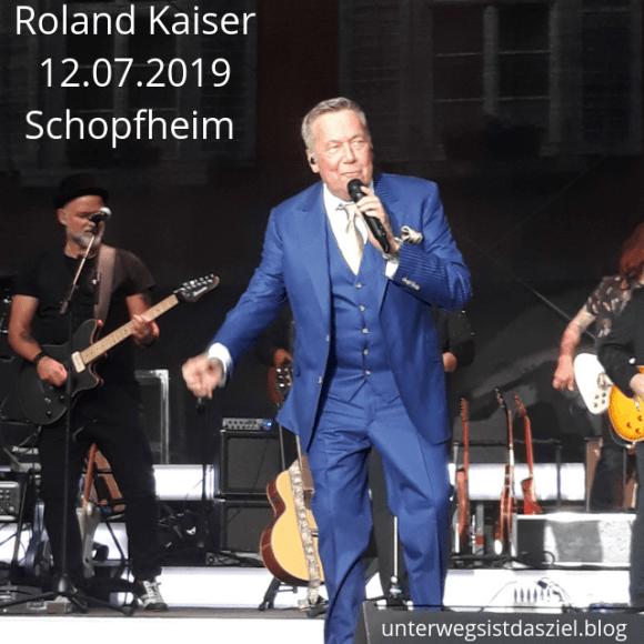 Roland Kaiser beim Sommersound Open Air auf dem Schopfheimer Marktplatz