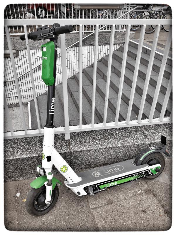 Elektroroller von Lime in Hamburg