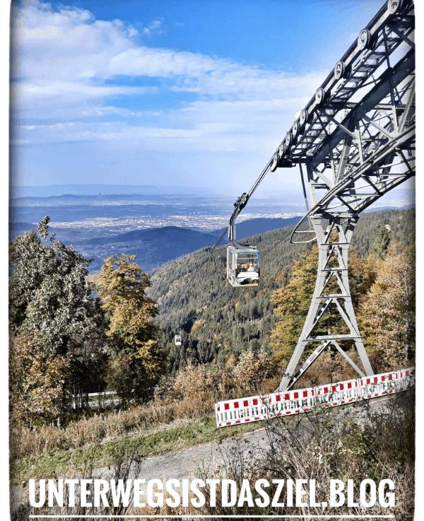 Schwarzwald erleben auch mit Rollstuhl oder Kinderwagen mit der Schauinslandbahn