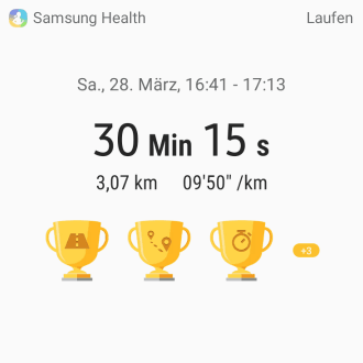 Screenshot von Samsung Health
