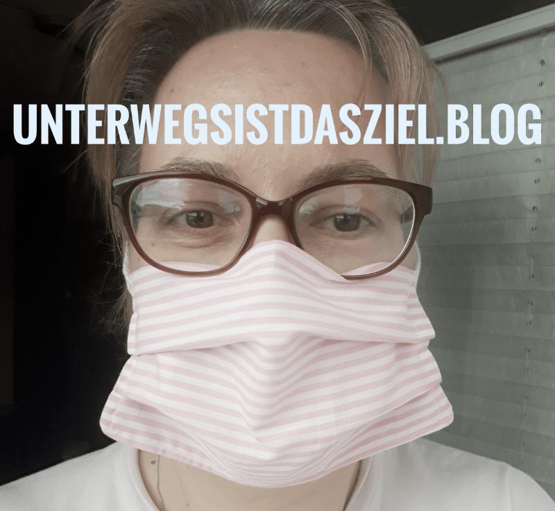 """Maske Nähen ohne Gummiband, Einfacher Schnitt für Brillen und Bartträger und """"extra viel Luft"""""""