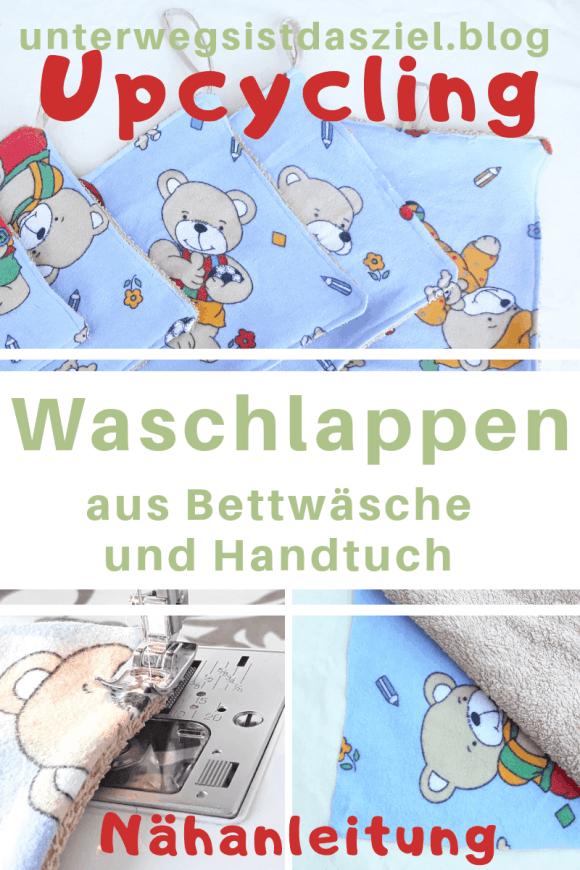 Nähanleitung für Anfänger  Waschlappen für Kinder aus Kinderbettwäsche und altem Handtuch. Nachhaltige Nähidee. Kinderbettwäsche Recycling, Upcycling